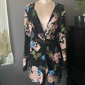 Deep V Missguided Dress